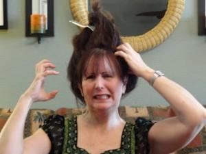 Lynn Kelley, funny hair stories