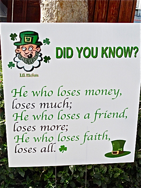 St. Patrick's Day, leprechaun, Irish saying, Irish festival, L.A. County Fairgrounds, Lynn Kelley, Lynn Kelley author, http://lynnkelleyauthor.wordpress.com