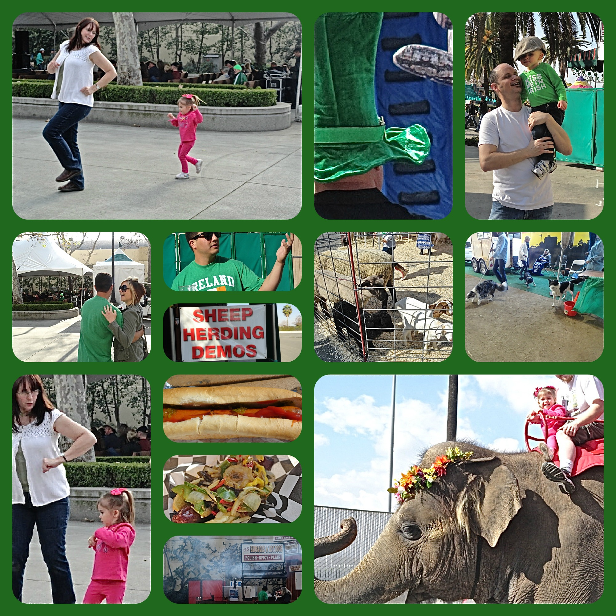 St. Patrick's Day, Irish Festival, L.A. County Fairgrounds, elephants, petting zoo, dancing, Lynn Kelley, Lynn Kelley author, http://lynnkelleyauthor.wordpress.com
