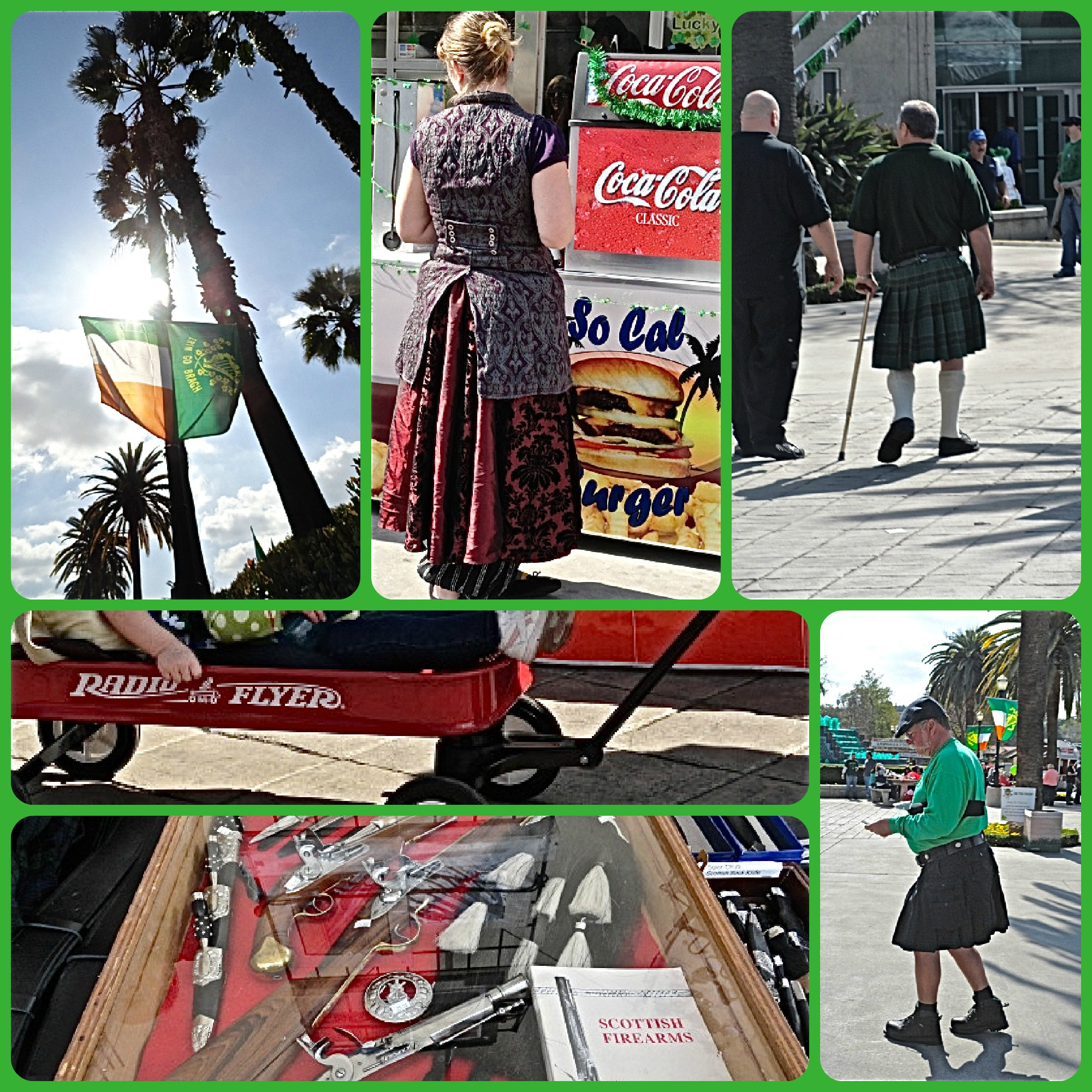 Flag of Ireland, Irish Festival, kilts, L.A. County Fairgrounds, St. Patrick's Day, Lynn Kelley, Lynn Kelley author, http://lynnkelleyauthor.wordpress.com