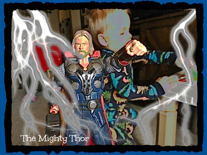 The Mighty Thor, Mighty Thor, Thor, action figure, mythology, Lynn Kelley, Lynn Kelley author, Lynn Kelley children's author, Curse of the Double Digits, BBH McChiller, Monster Moon mysteries, humor