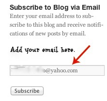 Subscribe to Blog screen shot-1