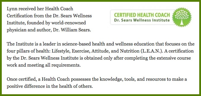 Lynn Kelley, Master Certified Health Coach