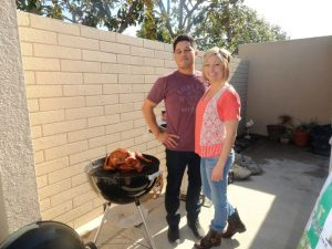 Lynn Kelley, how to barbecue a turkey