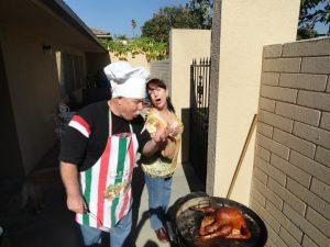 Lynn Kelley, how to barbecue a turkey on a Weber kettle BBQ