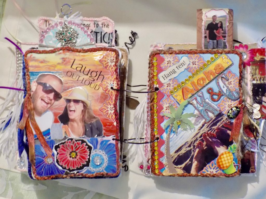 Lynn Kelley, altered art, scrapbooking, art therapy, multi media scrapbooking