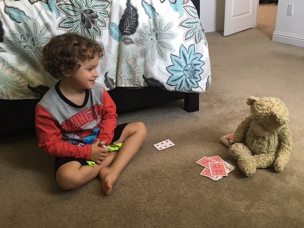 Lynn Kelley, young kids love card games