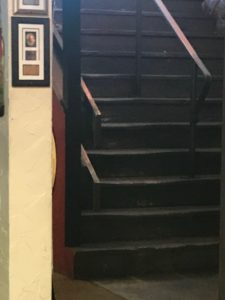 Lynn Kelley, bad stairway