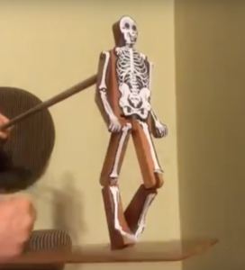 Lynn Kelley, BBH McChiller, dancing skeleton